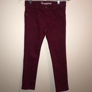Crazy 8 Girl's Maroon Jeggings